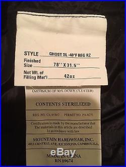 Mountain Hard Wear Ghost SL -40 degree Black Sleeping Bag