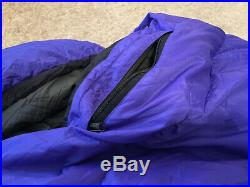 Mountain Hardwear Mammoth Down 10 Degree Sleeping Bag Wide Roomy for Big Guys