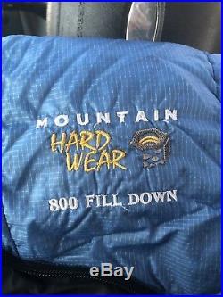 Mountain Hardwear Phantom 15 Degree 800 Fill Down Long Sleeping Bag Stuff Sack