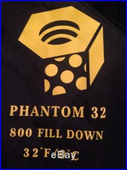 Mountain Hardwear Phantom 32 sleeping bag 800 down ultralight 6'6 Long LH zip