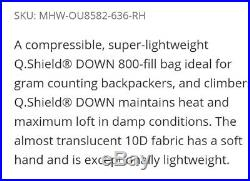 Mountain Hardwear Phantom Spark premium ultralight 800 Down sleeping bag 22oz