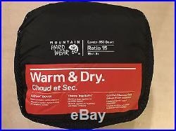 Mountain Hardwear Ratio 15F/-9C Sleeping Bag, 650 Down Fill, Regular Right