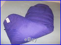 Mountain Hardwear Tioga GOOSE Down Sleeping Bag Purple Regular Winter Expedition