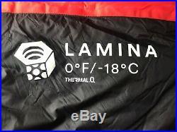 Mountain hardwear Red Womens lamina Sleeping bag 0F/-18C