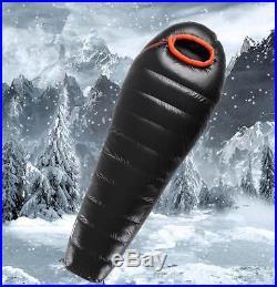 Mummy 1000g White Duck Down Sleeping Bag Winter Warm -10 Degree Camping Hiking