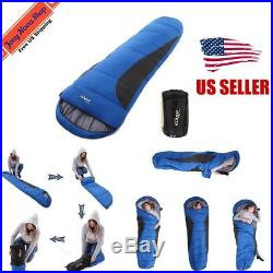 Mummy Sleeping Bag 2-(-18)ºC/37-0ºF Outdoor Camping Hiking With Carrying Case