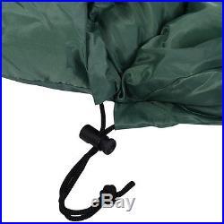 Mummy Waterproof Sleeping Bag 0-10 Degree Camping Hiking With Carrying Bag Green