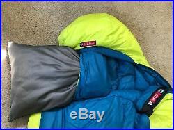 NEMO DISCO 30 DOWN SLEEPING BAG SPOON SHAPE. Excellent Condition