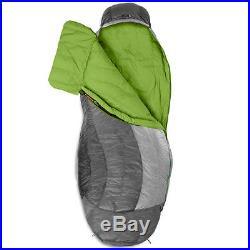 NEMO Nocturne 15° Degree Sleeping Bag, Long Aluminum Black RIGHT ZIP