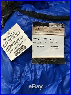 NEVER USED! Western Mountaineering Puma MF 5'6ft Right Zip -25F Sleeping Bag