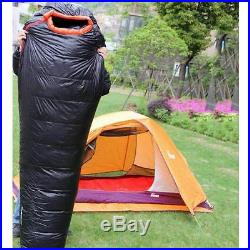 NEW 1000g Filling White Duck Down Mummy Sleeping Bag -10°C Camping Carrying Case
