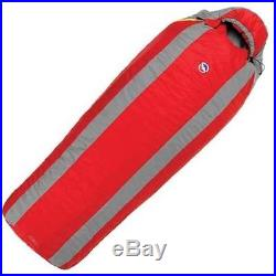 NEW Big Agnes ENCAMPMENT 15 deg Sleeping Bag REGULAR LEFT Zip RED GRAY