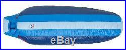 NEW Big Agnes LOST RANGER Down 15 Degree Sleeping Bag BLUE STRIPE Long/Left