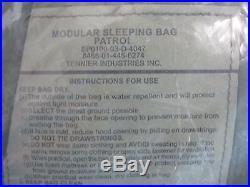 New U. S. Military Modular 4 Pc Goretex Sleeping Bag System