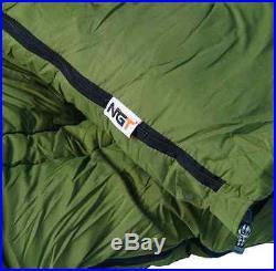 NGT Carp Fishing 2 Man Fortress Bivvy Tent + 5 Seasons Sleeping Bag + Pillow