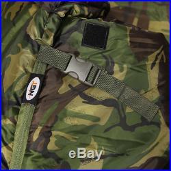 NGT Carp Fishing Bedchair With Camo 5 Season DPM Sleeping Bag Fleece Lining XPR