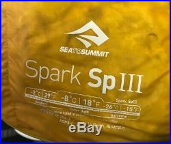 NWT Sea to Summit Spark SpIII LONG Sleeping Bag 18 Degree Ultralight 850 Fill