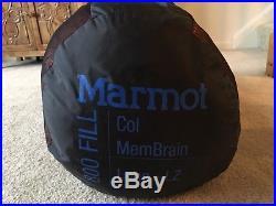 New Marmot Col Membrain -20 Degree Long Sleeping Bag Left Zip