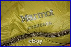 New Marmot Hydrogen Size Long Down Sleeping Bag 800 Fill Left Zip $349