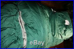 New North Face Forest Green Survivalists Goose Down Sleeping Bag Reg LH 2 LB