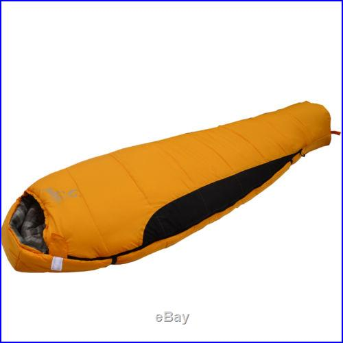 New Outdoor Camping Winter Mummy Shaped Sleeping Bag SD008 Yellow #C165