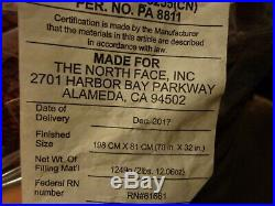 New THE NORTH FACE Inferno -40F/-40C Camping Sleeping Bag 800 Pro Down Fill