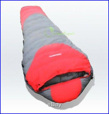 New White Duck Down Mummy Sleeping Bag -20 -10 0 degree
