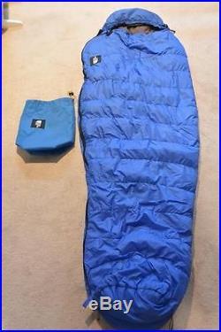 Nice North Face Blue Kazoo II Goose Down Sleeping Bag 80x30 FREE SHIPPING
