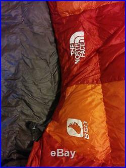 North Face Beeline 850 30F Sleeping Bag Goose Down Ultralight Camping! Mint