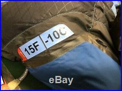North Face Blue Kazoo Sleeping Bag 15F -10C Regular Size RH 600 Down