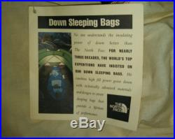 North Face Blue Super Kazoo Goose Down Sleeping Bag Reg RH 80x30 10° Used Once