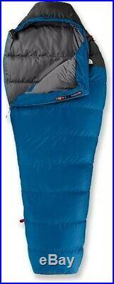 North Face Furnace 20 Sleeping Bag Long Blue/Grey 550 Down Fill Mummy Shape