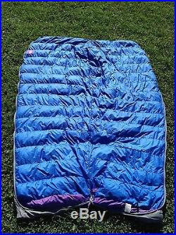 North Face Tapered Goose Down Mummy Sleeping Bag ultralite VGC NR