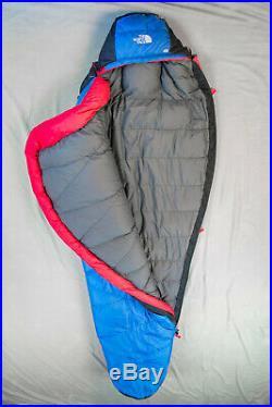 North Face sleeping bag Blue Kazoo 20 degree LONG Mountaineering LH 3/4 Zip