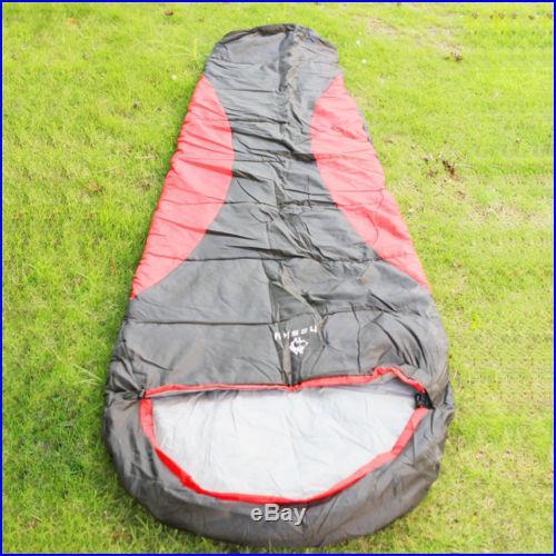 Outdoor Camping Mummy Sleeping Bag 0? -15? 1 Person Multi Season Waterproof