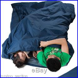 Outdoor Sleeping Bag Camping Travel Hiking Multifuntion Ultra-light Dark Blue