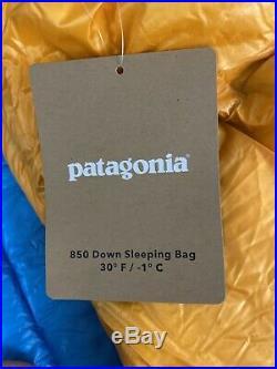Patagonia 850 Down Sleeping Bag 19 F/-7 C Regular Campfire, Color Orange LONG