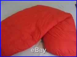 RARE The North Face Chrysalis 10 Degree Sleeping Bag Goose Down SOFT USA Red