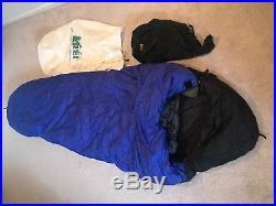 REI 5-Degree Down Sleeping Bag Men's Regular Length Water-Resistant Coating