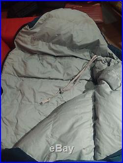 REI Aleutian Goose Down Filled mummy sleeping Bag regular right