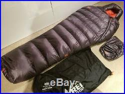 REI Magma 15° 850 fill down sleeping bag Men's regular ultralight backpacking