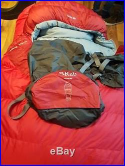 Rab ascent 900 sleeping bag camping 4 season sleeping bag