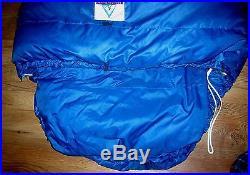 Rare Vintage Holubar Goose Down Sleeping Bag 0 Degree Blue Vg Cond