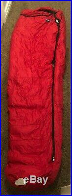 Red Feathered Friends Ibis EX 0 Degree Sleeping Bag LONG Barely Used