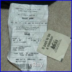 Rei Goose Down Down Time Thaw -20 Sleeping Bag Right Zip 64 X 86 Long Fmm