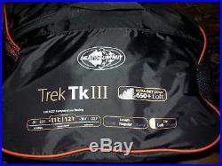 Sea To Summit Trek Tk III 3 Sleeping Bag 12 Degree Down. Reg length. Left zip