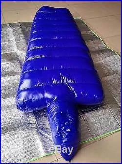 Shiny nylon Mummy down sleeping bags Mummy closed sleeping bag outdoor wet-look