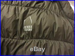 Sierra Designs BTU -20 800 Fill Goose Down DriLoft Long LZ Sleeping Bag+2Pads