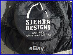 Sierra Designs BTU -20 Sleeping Bag, Waterproof/breathable Shell, 800fp Down