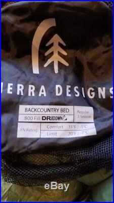 Sierra Designs Backcountry Bed 800 3-Season Sleeping Bag Regular 20 degree